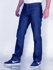 Джинсы синие мужские из плотного денима